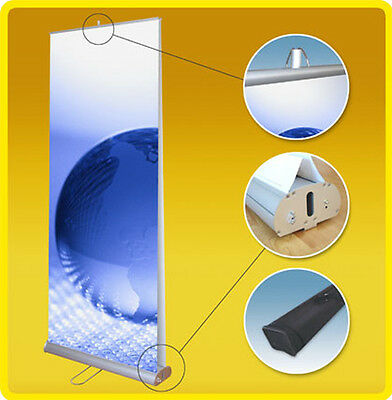 """Double Side 33x79"""" Retractable Roll Up Banner Stand Trade Show Signage Display"""