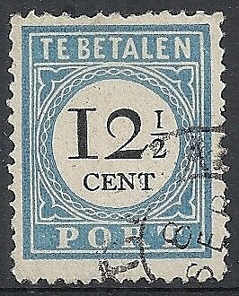 Netherlands 1881 NVPH Due 8Dfb Plate ERROR  CANC  F/VF