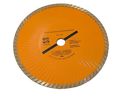 """9"""" 230mm Turbo Diamond Cutting Disc (Wet and Dry)"""