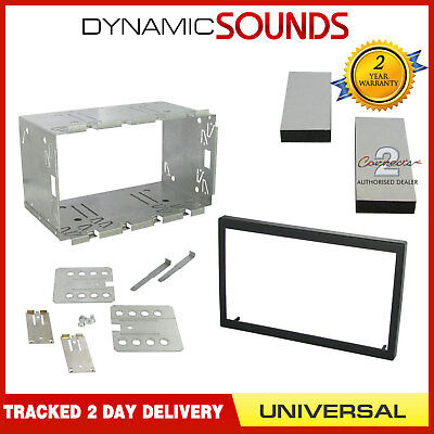 CT23UN02 Universal Black Double Din Facia Plate Adapter 110MM Fitting Kit