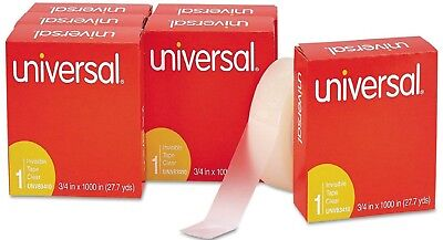 """Invisible Tape 3/4"""" x1,000"""" Size 1 inch 12 Rolls Office Impressions - FREE SHIP"""