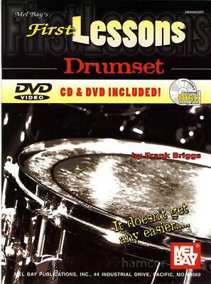 First Lessons Drumset Learn to Play Drums Book +DVD +CD