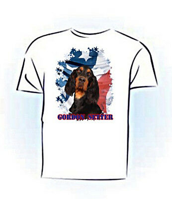 Gordon Setter   Stars & Stripes   PERSONALIZED  Custom  Pet  T shirt