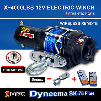 I-Max Wireless 4000LBS/1814kg 12V Electric Winch Rope Boat ATV 4WD 4x4 Trailer