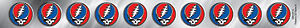 New, THE GRATEFUL DEAD Steal Your Face Strip STICKER