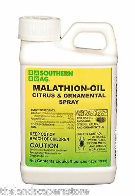 Malathion Oil Citrus & Ornamental Spray 8oz Scale Mites