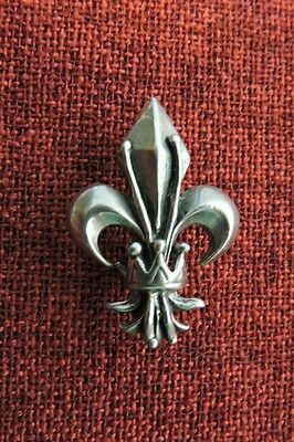 Fleur De Lys Lis French Lily Queen Knight King Renaissance France Pewter Brooch