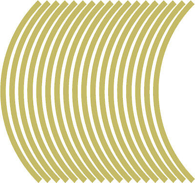 9mm wheel rim tape striping stripes stickers GOLD..(38 pieces/9 per wheel)