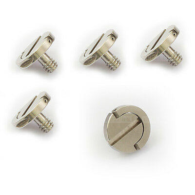 """5X 1/4"""" D-Ring Camera Screw fr Cheese Plate Quick Release Mounting Tripod Rapid"""