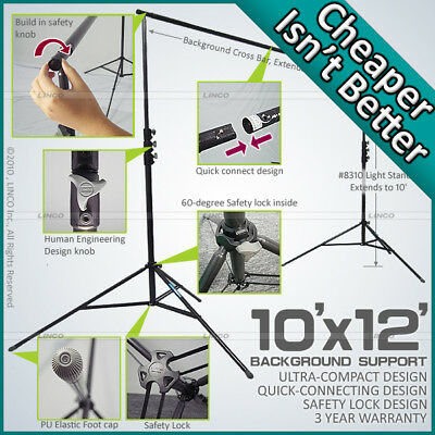 10 x 12 BACKGROUND BACKDROP SUPPORT STAND CROSSBAR