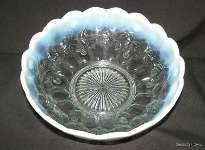 Fenton Opalescent Honeycomb & Clover Master Berry Bowl