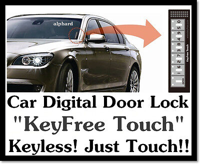 Car Vehicle Digital Touch Keyless Door Lock System Key
