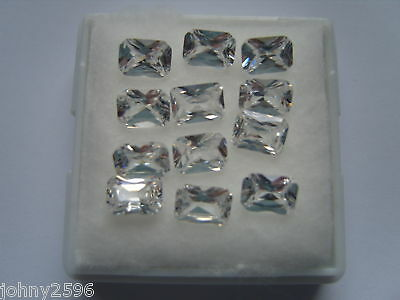 5x3mm octagonal clear white cubic zirconia stones 6 for £1.00p