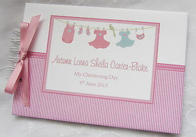 Personalised Christening / Naming Day Guest Book /Album