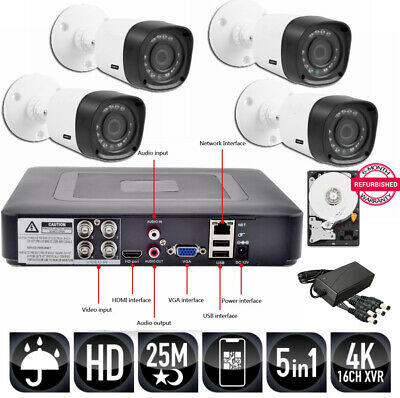Kit Videosorveglianza 4 Telecamere CCD Sony 3MP EURVISION  + DVR 4 in 1080 + HD