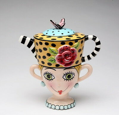SUGAR HIGH SOCIAL BY BABS PERSONAL TEAPOT SET CERAMIC