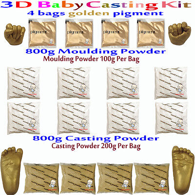 3D Baby Casting Kit 800gMoulding Powder+800gCasting Powder Hands&feet