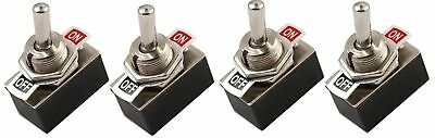 12 VOLT UNIVERSAL ON/OFF CAR DASH TOGGLE FLICK SWITCH HEAVY DUTY x 4