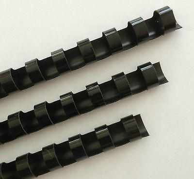 "3/4"" Plastic Binding Combs - ""BLACK"" - Set of 25"