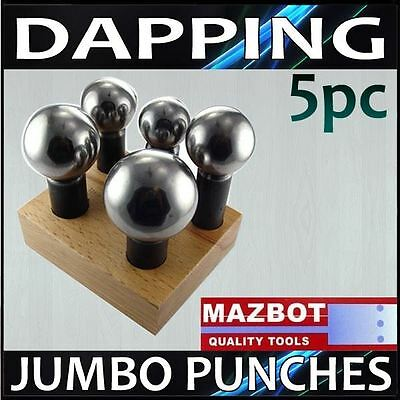 Jewelry Doming Block  Dapping 5 Punch Pro Set - 075