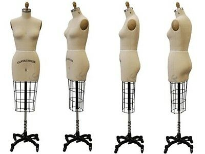 Professional Pro Female Working dress form, Mannequin, Half Size 8, w/Hip+ARM