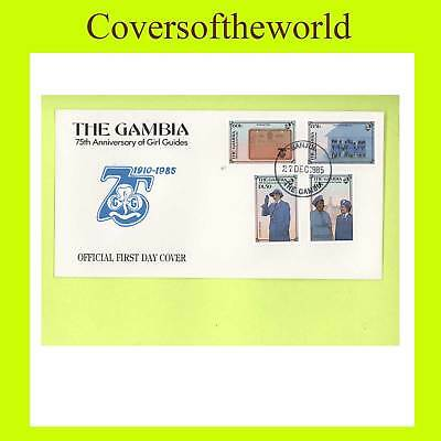 Gambia 1985 Girl Guides 75th anniv.set First Day Cover