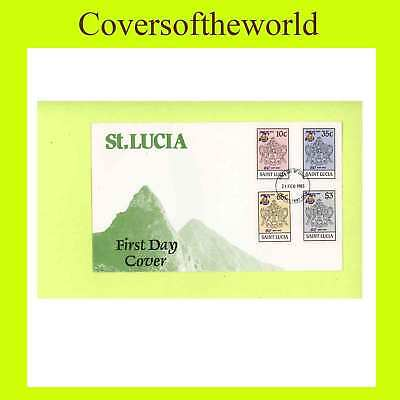 St. Lucia 1985 75th Anniv. Girl Guides set on First Day Cover