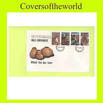 Botswana 1986 Milk Containers set First Day Cover