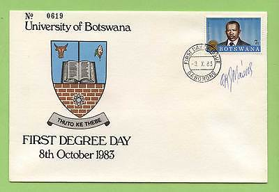 Botswana 1983 University FDC, Signed by the President
