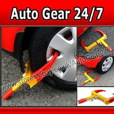 Car Van Caravan Trailer Motorhome Easy Fit Claw Steel Wheel Tyre Clamp Lock