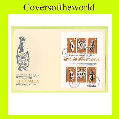 Gambia 1978 Coronation Sheetlet First Day Cover