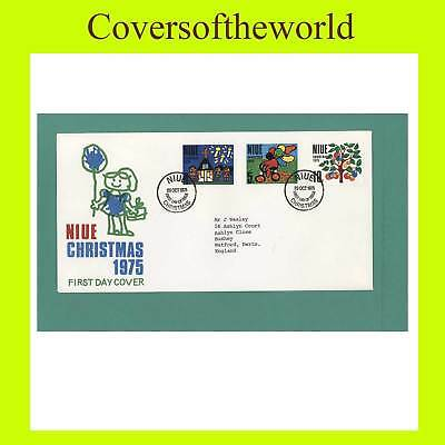 Niue 1975 Christmas set First Day Cover, addressed