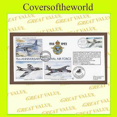 Barbados 1993 RAF 75th anniv. Flown Cover RAF(75)22