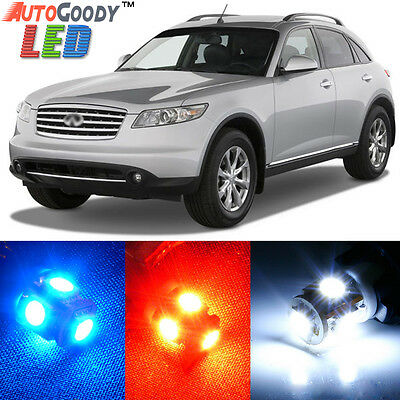 7x White Lights LED Door Trunk Interior Package SMD Chips For Acura TL 2004-2008
