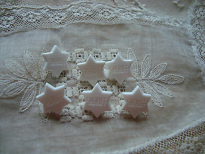 """White Star """"Sheriff"""" Realistic Plastic Buttons"""