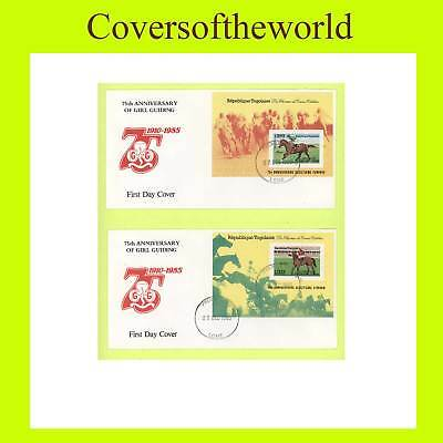 Togo 1985 Girl Guides 75th Anniv. pair First Day Covers