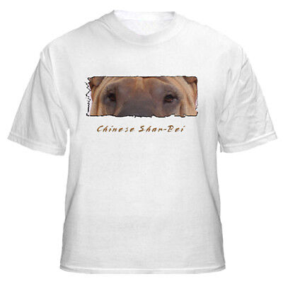 "Chinese Shar Pei   "" The Eyes Have It ""    Custom   T shirt"