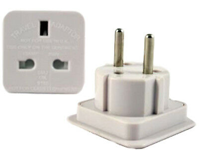 1 x UK To EU 2 PIN Travel AC Adapter Plug Converter NEW EU