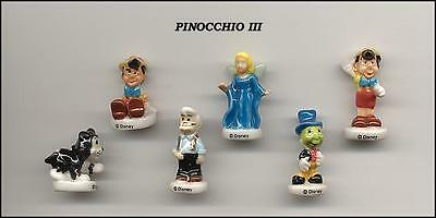 Fèves  DISNEY   PINOCCHIO III   6 Sujets  WD130