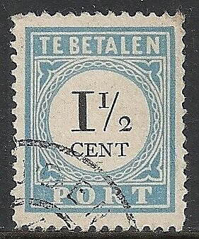Netherlands 1881 NVPH Due 4Dfb ERROR  CANC  VF