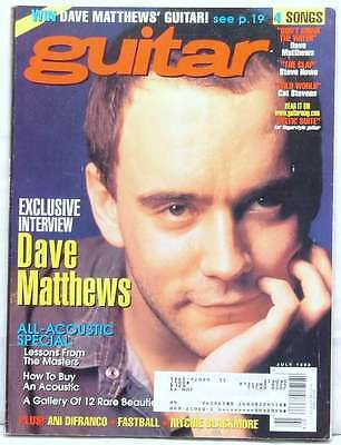 Guitar Magazine Dave Matthews Interview Ani Difranco Ritchie Blackmore July 1998