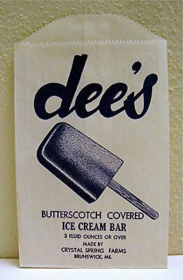 Dee' Ice Cream Bar Bag Crystal Spring Farm Brunswick Me