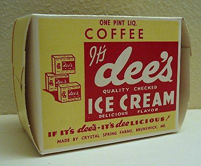 Dee's Coffee Ice Cream Crystal Spring Farm Brunswick Me