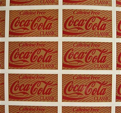 44 Coca Cola Classic Stickers Coca Cola USA Adv Sheet