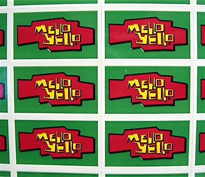 44 Mello Yello Soda Stickers Coca Cola USA Adv Sheet