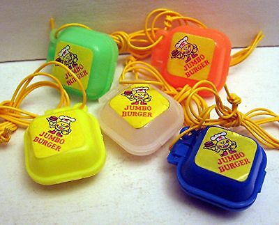 10 Burger Carryout Necklace Charms Vending Machine Toy