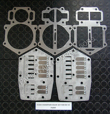 Champion Compressor Complete Valve Plate Kit with Gaskets # Z1183 fits RV15 RV30
