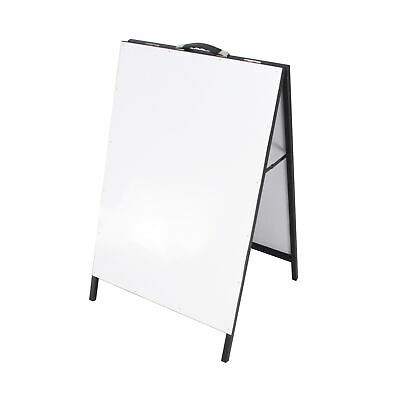 "39x23"" Doublesided Sidewalk A Frame White Dryerase Menu Sign Board Sandwich"