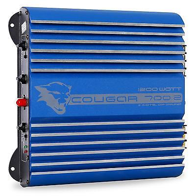 Ampli Auto Cougar Design Racing Sono Hifi 2 1 Canaux Basses 1200W Voiture Hp Led