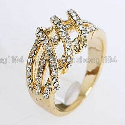 Clear Crystal 18K GP New Arrival Ring A13 Free Shipping